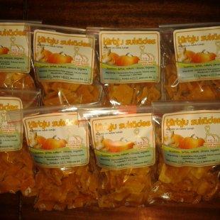Sukāžu asorti (3 veidu ķirbis, ābols, rabarbers), 250 g, EUR 5,00